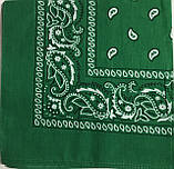 Хлопковая бандана (платок) с рисунком зеленого цвета, фото 2