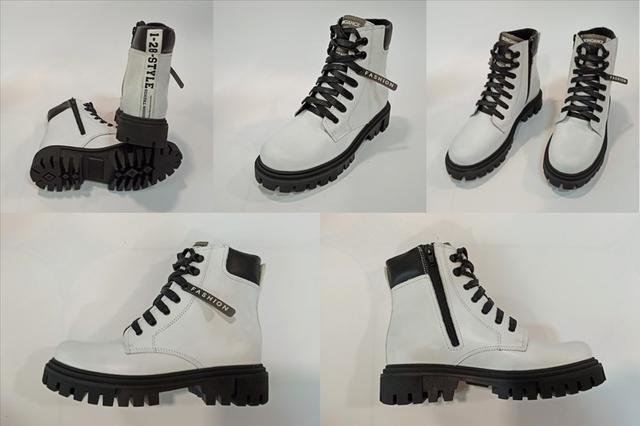 Белые ботинки на осень весну Danshoes фото