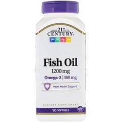 Витамины омега 3 21st Century Fish Oil 1200 mg (90 капсул.)