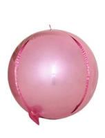 """Шар фольгированный сфера 3D розовый 10"""" (Китай)"""
