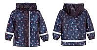Детский Дождевик, Куртка, синяя, Грязепруф, Lupilu 98-104