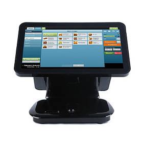 """Сенсорный POS терминал моноблок Piano 15,6"""" Два экрана Мощный ПОС моноблок для кафе, ресторана"""