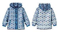 Детский Дождевик, Куртка, голубая, Грязепруф, Lupilu 98-104