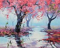 Картина по номерам на дереве 40*50см. 3487RAD Осень в подарочной коробке