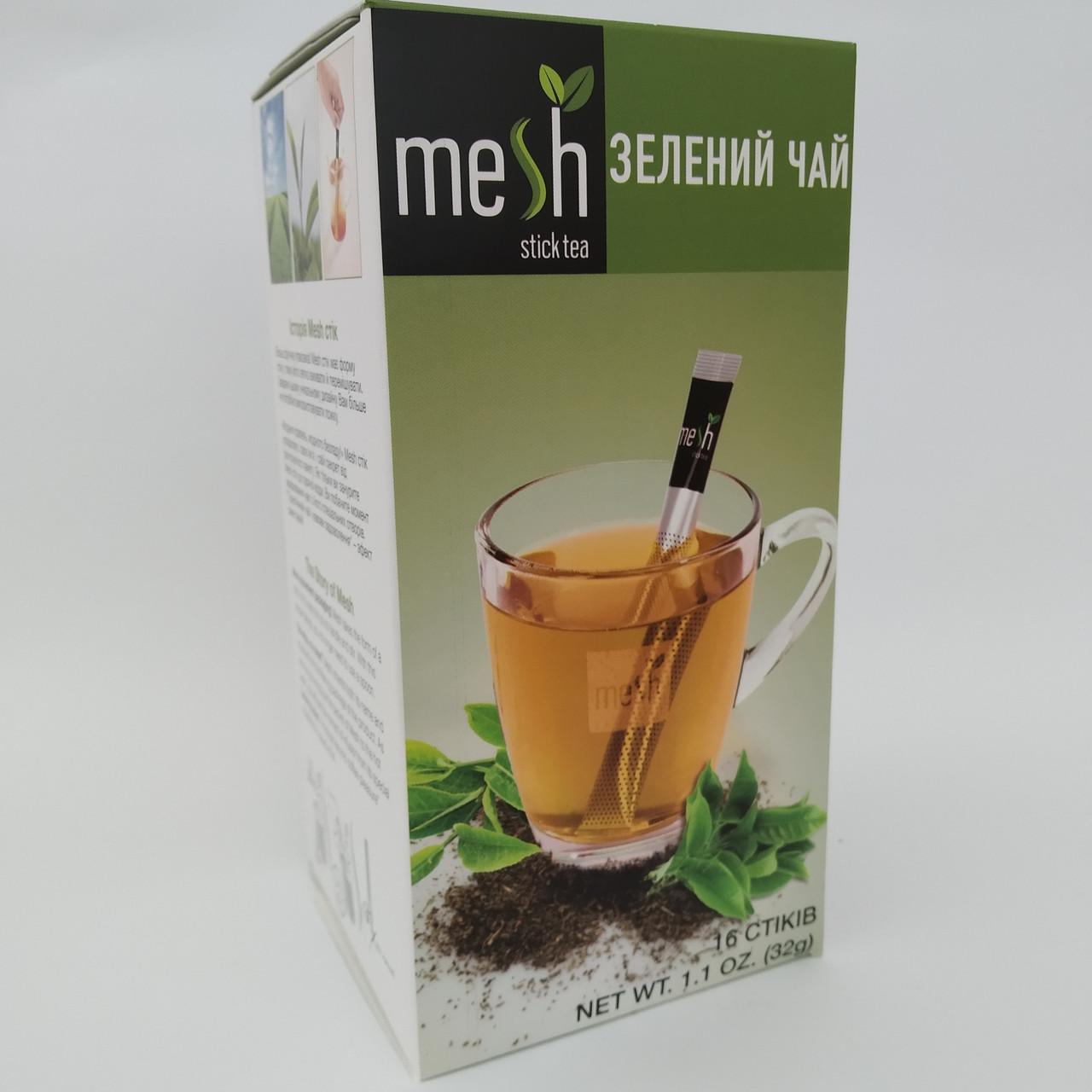 Зелений чай в стіках Mesh Steick Tea, 16*2г