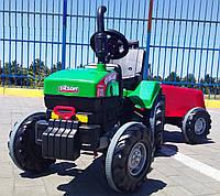 Большой детский трактор на педалях Pilsan (зеленый цвет) без прицепа