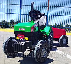 Великий дитячий трактор на педалях Pilsan (зелений колір) без причепа