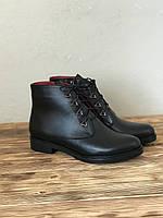 Демисезонные женские ботинки из натуральной кожи на низком ходу 37