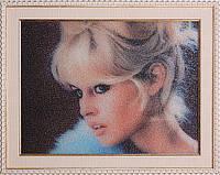Портрет с фотографии бисером+ арт портрет по фото + гранж портрет +вип подарок+портрет Бриджит Бардо