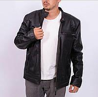 Мужская кожаная куртка чёрная натуральная BERTANNI Англия Лондон