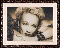 Портрет из бисера ручная работа+ портрет по фотографии+арт портрет+вип подарок+портрет Марлен Дитрих