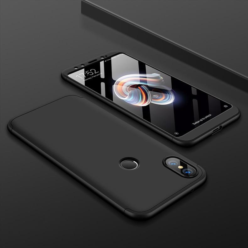 Матовый чехол GKK Slim Armor для телефона Xiaomi Mix 2S (Черный)