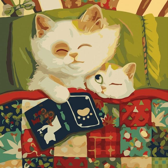 """Картина по номерам """"Спокойной ночи 2"""" 30*30см  KHO4160"""