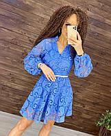 Женское красивое нарядное гипюровое платье електрик айвори Украина Китай дня сведетельницы на подарок