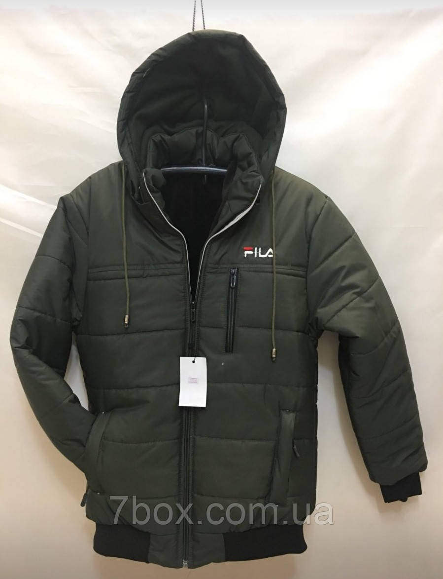 Мужская зимняя куртка Fils на флисе оптом  рр. 48-56