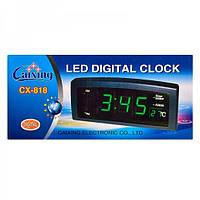 Электронные часы CX 818 с календарем и термометром