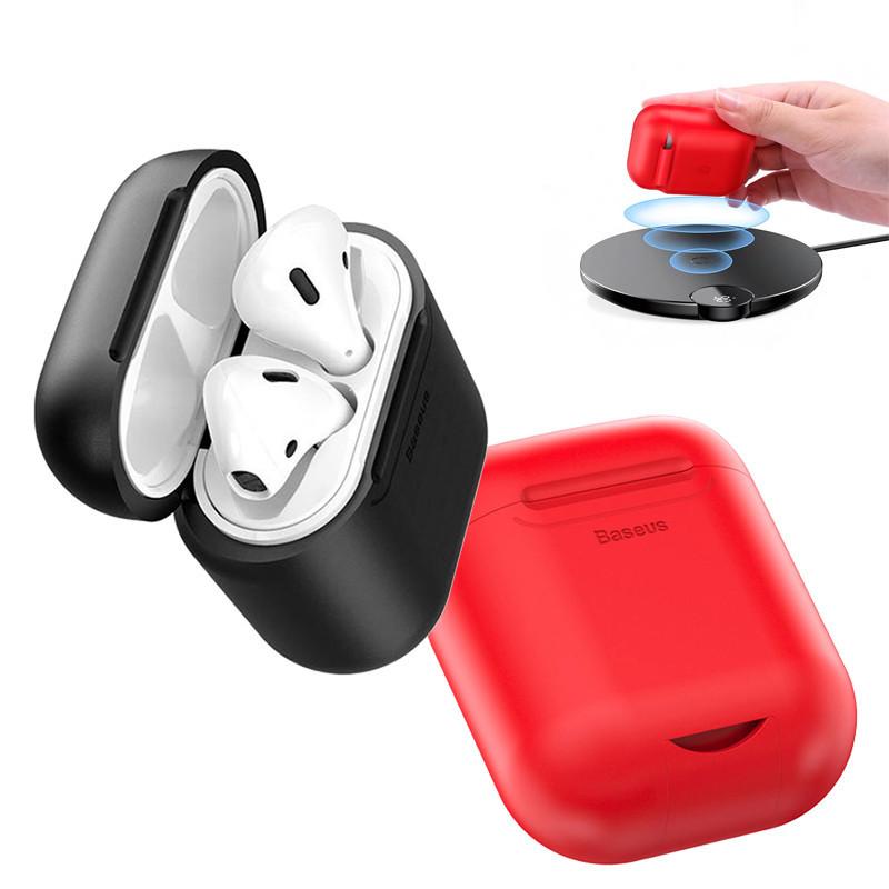 Силиконовый чехол с беспроводной зарядкой для зарядного кейса AirPods Baseus Wireless Charger