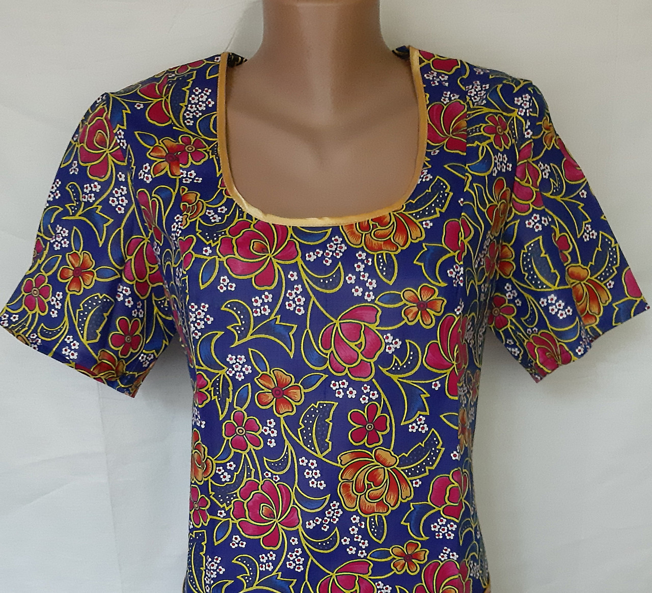 Платье с коротким рукавом 62 размер Пионы