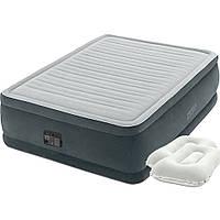 Двухспальная надувная кровать Intex, 152 х 203 х 56, со встроенным электрическим насосом и подушками