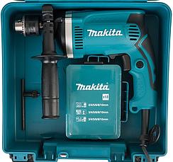 Дрель Makita HP1630 (710 Вт, 0-3200 об./мин.) с набором сверл, бит, камней. Ударная дрель Макита, фото 3