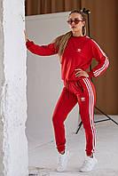 Женский спортивный костюм Adidas красный свитшот - штаны лето/весна/осень