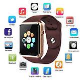 Смарт-часы Smart Watch A1 золотистые, фото 2