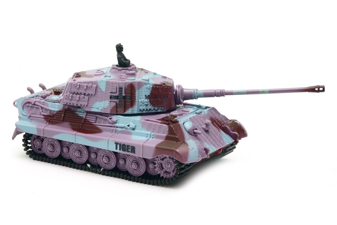 Танк микро р/у 1:72 King Tiger со звуком (фиолетовый, 35MHz)