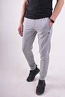 Размеры: 46-54. Мужские спортивные штаны на манжете ST-BRAND / Трикотаж двунитка - светло-серые