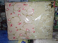 Полуторна постільна білизна жатка Тирасполь квіточки
