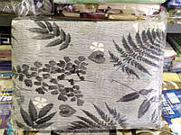 Двоспальне постільна білизна жатка Тирасполь сірі листя