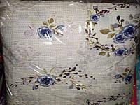 Двоспальне постільна білизна жатка Тирасполь - сині трояндочки