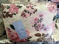 Двоспальне постільна білизна жатка Тирасполь рожеві квіти
