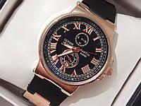 Мужские (Женские) кварцевые наручные часы Ulysse Nardin на каучуковом ремешке, фото 1