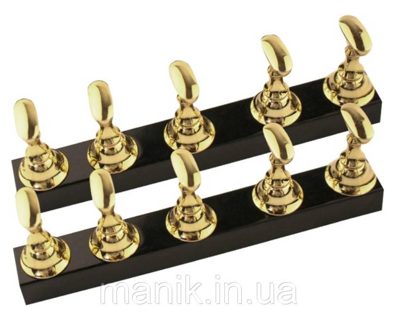 Подставка-держатель для типс магнитная, цвет золотой, 10 шт.