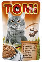 Консерва для кошек TOMi Goose and Liver - кусочки гуся и печени в соусе