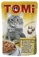 Консерва для кошек TOMi Poultry and Rabbit - кусочки птицы и кролика в соусе