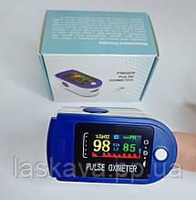 Пульсометр оксиметр на палец - пульсоксиметр PULSE OXIMETER цветной LCD дисплей