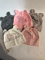 Детская шапочка Мишка на Луне (варианты расцветок, 44-46 рр)