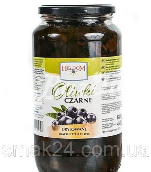 Оливки черные без косточки Oliwki Czarne Helcom  900 г Польша