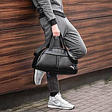 Фітнес-сумка пума, Puma для тренувань. Чорна. Кожзам, фото 3