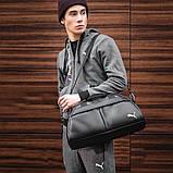 Фітнес-сумка пума, Puma для тренувань. Чорна. Кожзам, фото 4