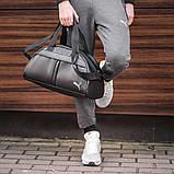 Фітнес-сумка пума, Puma для тренувань. Чорна. Кожзам, фото 10