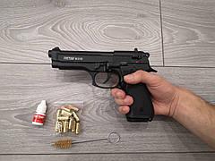 Шумовой пистолет Беретта 92 под холостой патрон 9 мм. Стартовый пистолет Retay. Сигнальный пугач Ритей СХП