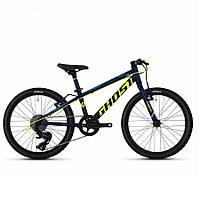 "Велосипед Ghost Kato R1.0 20"", сине-желтый, 2020"
