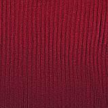 Женская водолазка в рубчик темно-красная, базовый гольфик лапша, джемпер с горлом, S-M-L, 42-44-46-48, фото 8