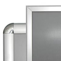 Рамка с 25-й click-системы А2 на стену с прямыми или округлыми  углами