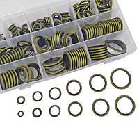 Набор латунных шайб с резиновыми кольцами 245 штук диам. 6 - 30 мм для гидравлики