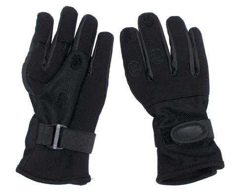 Перчатки из неопрена стрелковые MFH Mesh Black 15883A XXL