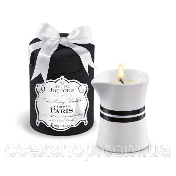 Массажная свечa Petits Joujoux - Paris - Vanilla and Sandalwood (190 г) роскошная упаковка
