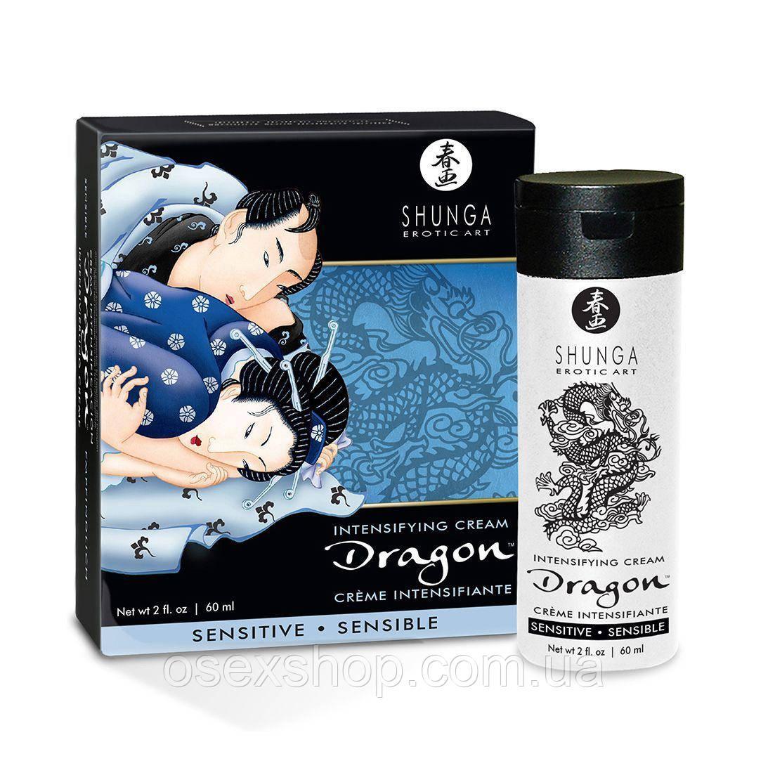 Стимулирующий крем для пар Shunga SHUNGA Dragon Cream SENSITIVE (60 мл) более нежный эффект